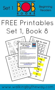 FREE BOB Book Printables for Set 1 Book 8 from Walking by the Way