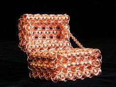 Copper Chainmaille Treasure Chest