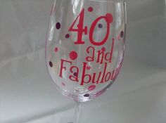 40 and fabulous personalized birthday polka by WaterfallDesigns, $11.00