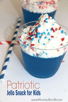 Super EASY, festive red, white and blue jello snacks for kids!