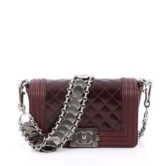 eacf28916eb704 Medallion Boy Flap Bag Quilted Glazed Calfskin with Leather Small Chanel,  Leather, Accessories,