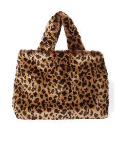 #bag #furry #cheetah #shopping