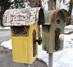New rustic bird houses birdhouses door knobs 51 Ideas Garden Crafts, Garden Projects, Diy Projects, Bird House Feeder, Bird Feeders, Cactus Y Suculentas, Bird Cages, Fairy Houses, Dog Houses