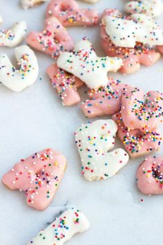 Frosted + Sprinkles Alphabet Cookies