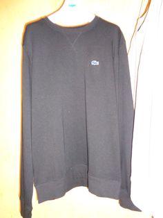 lacoste sweatshirt  crew neck black men's  | eBay