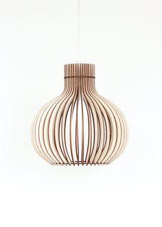 Hout Lamp / Houten Lamp Shade / Opknoping Lamp / van KWUDLV op Etsy