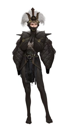 Sketch by Yuan Fang Female Character Design, Character Creation, Character Design Inspiration, Character Concept, Character Art, Dnd Characters, Fantasy Characters, Female Characters, Arte Cyberpunk