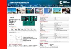 Cummins Power Generation Telecom Power Solution Diesel generator set C22D5T series 22 kVA @ 50 Hz Cummins Power Generation, Engineering Companies, Diesel, World, Diesel Fuel, The World