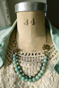 beautiful handmade necklace and earrings
