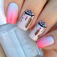 Image de nails, pink, and nail art