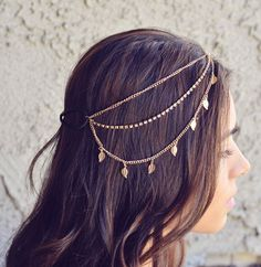 NEW Gold Leaves Rhinestone Indian Boho Bohemian Headband Coachella Festival Hair Chain Accessories Flower Crown Gypsy - Looking for Hair Extensions to refresh your hair look instantly? focus on offering premium quality remy clip in hair. Bohemian Headband, Feather Headband, Black Headband, Chain Headband, Indian Headband, Headband Hair, Head Jewelry, Boho Jewelry, Chain Jewelry