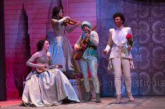 The Two Gentlemen of Verona Royer Bockus, Chloe Brown, Kjerstine Rose Anderson, Christiana Clark. Photo: T. Elizabethan Theatre, Shakespeare Festival, Chloe Brown, Verona, Gentleman, Two By Two, Female, Rose, Pink