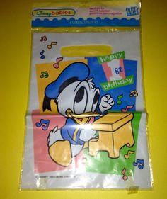8 Disneys Babies Birthday Donald Duck Party Bags