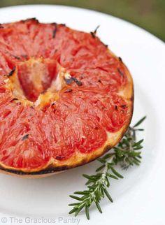 Clean Eating Broiled Honey Grapefruit [Healthy, Simple, Vegetarian, Desserts, Breakfast, Snacks, Fruit, Budget] *