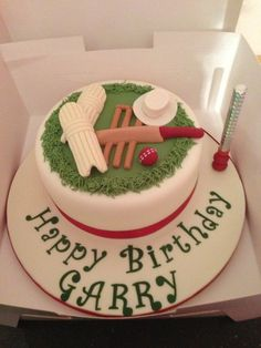 Some Cool Cricket Cake Ideas for Cricket fans ,If you are looking for Cakes for Cricket theme party then you can certainly use them. Cricket Birthday Cake, Cricket Theme Cake, 21st Birthday Cake For Guys, Birthday Cake Write Name, 21st Birthday Cakes, Happy Birthday, 21 Birthday, Birthday Ideas, Sports Themed Cakes