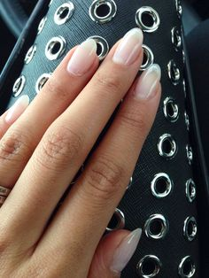 Natural looking almond gel nails~ I'd love my nails to look like this!                                                                                                                                                      More