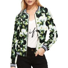 Farandole d'hibiscus black and white Striped Jacket, Date, Hibiscus, Bomber Jacket, Stripes, Black And White, Model, Jackets, Collection