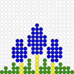 Kralenplank Blauwe druifjes