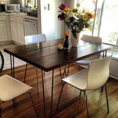 4ft Hairpin Leg Dining Table - Custom Sizes available.