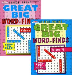 Kappa Large Print Great Big Word Finds Puzzle Book Case Pack 48 - 1864467