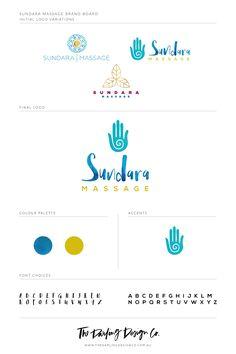 The Darling Design Co | Sundara Massage logo | http://www.thedarlingdesignco.com.au