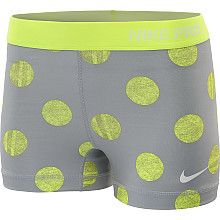 NIKE Womens Pro Core Printed 2.5 Shorts. Love the polka dots :)