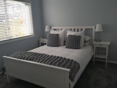Bedroom grey inspiration hamptons style