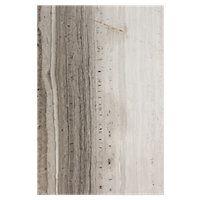 tile shop Legno Scuro 12 x 18 in$13.99SFA silver grey vein cut travertine tile with deep dark tones in the veining