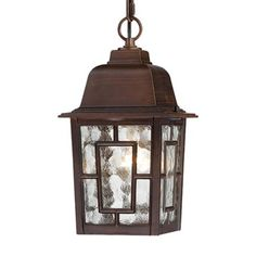 Nuvo Lighting 60-493 Banyan 1 Light 11-in Hanging Outdoor Pendant w/Clear Water Glass