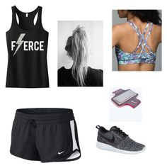 """""""Running"""" by andreadohner ❤ liked on Polyvore featuring NIKE and lululemon"""