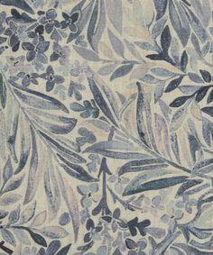 Liberty Furnishing Fabrics Grey Mist Wallace Secret Garden Scoured Linen | Roll Stock | Liberty.co.uk £85.00 per metre