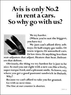 Avis Car Rentals   (DDB-William Bernbach)