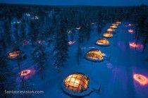 Hotel y aldea Iglú de Kakslauttanen en Saariselkä en Laponia en Finlandia