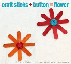 New Flowers Art Projects For Kids Preschool Popsicle Sticks 36 Ideas Craft Stick Projects, Craft Stick Crafts, Projects For Kids, Craft Sticks, Craft Ideas, Crafts For Seniors, Fun Crafts For Kids, Crafts To Make, Senior Crafts