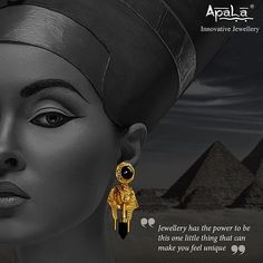 Mesmerizing Tutankhamun earrings inspired from the legacy of the ancient Egyptian pharaoh of the 18th dynasty!