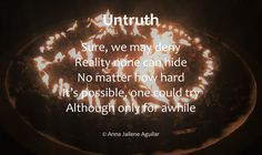Untruth – Anna Jailene Aguilar Anna, Poetry, Neon Signs, Poetry Books, Poem, Poems