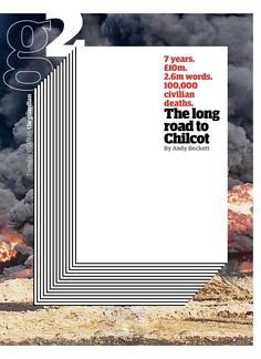 Guardian g2 cover: The Long Road to Chilcot. #chilcotreport #chilcot #cover #newspapers #newspaperdesign #editorialdesign #graphicdesign