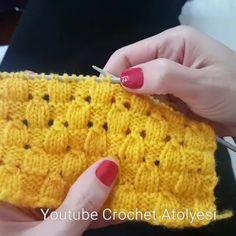 """Eda'nın Önerisi❤️ on Instagram: """"Badem Örgü huzurlarınızda.. 👌🏾👌🏾👌🏾 . @crochet_atolyesi . Diğer sayfam takip@encokkadinlarbilir @encokkadinlarbilir . . . . . . .…"""" Knitting Designs, Knitting Stitches, Knitting Patterns Free, Knit Patterns, Baby Knitting, Stitch Patterns, Crochet Hooded Scarf, Crochet Scarves, Crochet Slippers"""