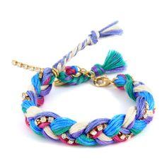 Lilac Friendship Thread Braided Bracelet