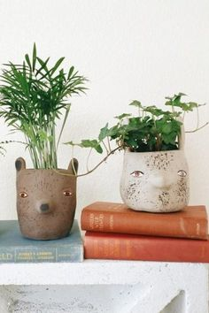 Forest Critter Garden Pot by Sarah Burwash | Pinned by topista.com