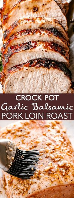 The most incredible Crock Pot Pork Loin you will ever taste! This recipe is totally easy and makes fall apart tender, juicy, and flavorful pork loin roast! recipes crockpot crock pot The Most Incredibly Flavorful Crock Pot Garlic Balsamic Pork Loin! Slow Cooker Pork Roast, Slow Cooker Huhn, Pumpkin Recipes, Fall Recipes, Dinner Recipes, Good Crock Pot Recipes, Crock Pot Recipe For Pork Loin, Crock Pot Stew, Recipes With Pork