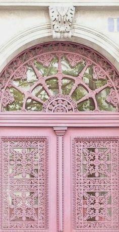 Pink Church Doors