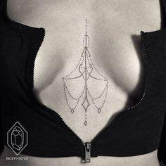 Maravilhosos pontos e linhas na pele. Tatuagens por Bicem Sinik