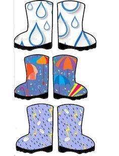 Sorteerspel. Leg juiste paraplu bij laarsjes