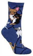 Chihuahua Indigo Socks (Women's)
