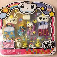 Spin master - kawaii crush day and night slumber party pack Kawaii Crush, Rilakkuma, Shopkins Wild Style, Num Noms Toys, My Mini Mixieqs, Baby Doll Nursery, Adrien Y Marinette, Kawaii Accessories, Kawaii Doll