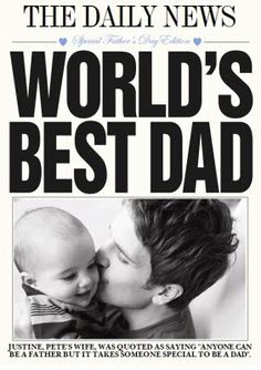 Let Dad know he's the World's best with a personalised card from Moonpig Worlds Best Dad, The Headlines, Fathers Day Cards, Pick One, Dads, Top 40, Feelings, Young Women, Newspaper