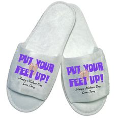 £5.50 Personalised Put your feet up Slippers