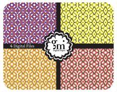 Orange Digital Paper Purple Digital Paper by DigitalPaperGM