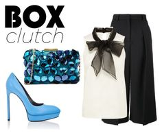 """""""Pretty Box Clutch"""" by charlotte-shuann ❤ liked on Polyvore featuring Love Moschino, Erdem, Yves Saint Laurent and BOXCLUTCH"""
